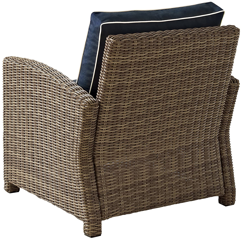 Amazon.com : Crosley Furniture Bradenton Outdoor Wicker Arm Chair ...