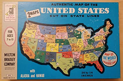 Amazon.com: Puzzle Map of the United States by Milton Bradley: Toys ...