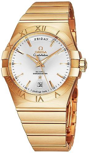 Omega Constellation 123.50.38.22.02.002 Reloj automático para hombre, oro amarillo de 18 quilates, esfera analógica ...