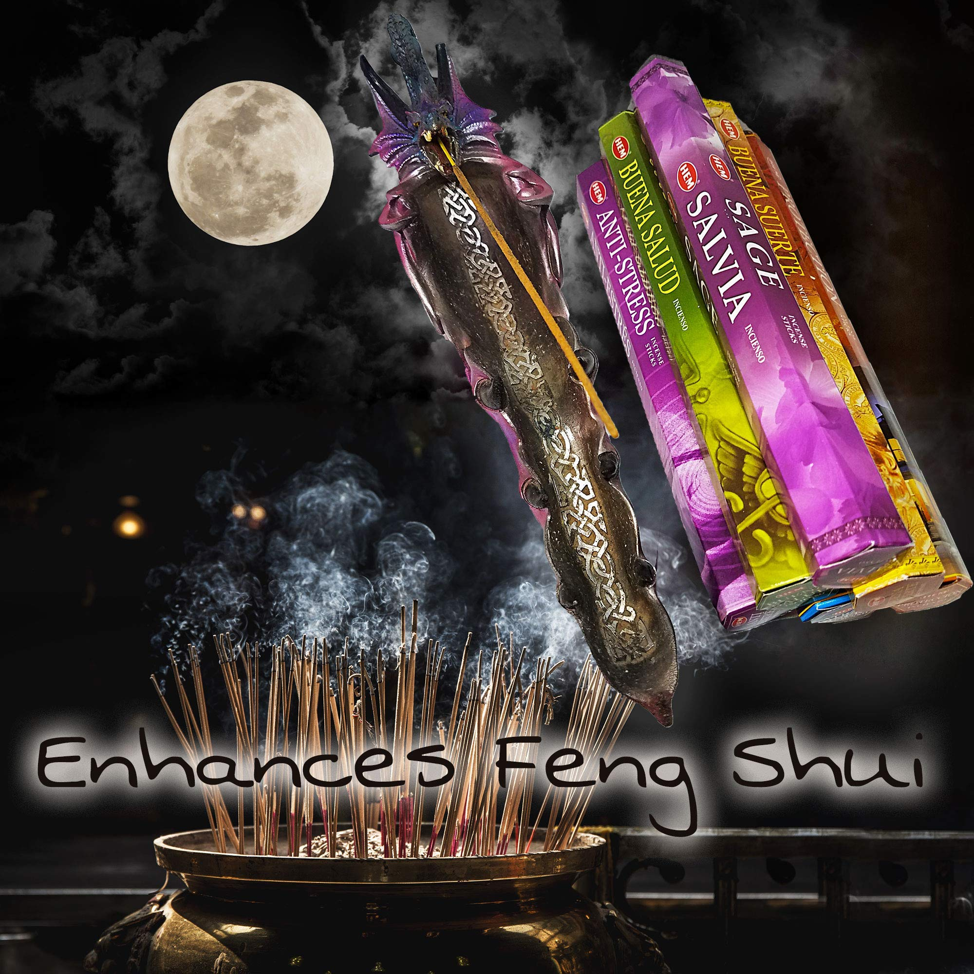AurAmbiance New Age Feng Shui Incense Stick Spiritual Gifts Set; Inscents Sticks for Natural Healing & Protection by AurAmbiance (Image #7)
