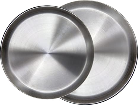 Immokaz Matte Polished 12.0 inch 304 Stainless Steel Round Plates Dish for Dinner Plate  sc 1 st  Amazon.com & Amazon.com   Immokaz Matte Polished 12.0 inch 304 Stainless Steel ...