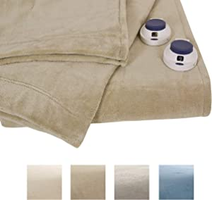 Serta Soft Heat Luxe Plush Low-Voltage Heated Blanket