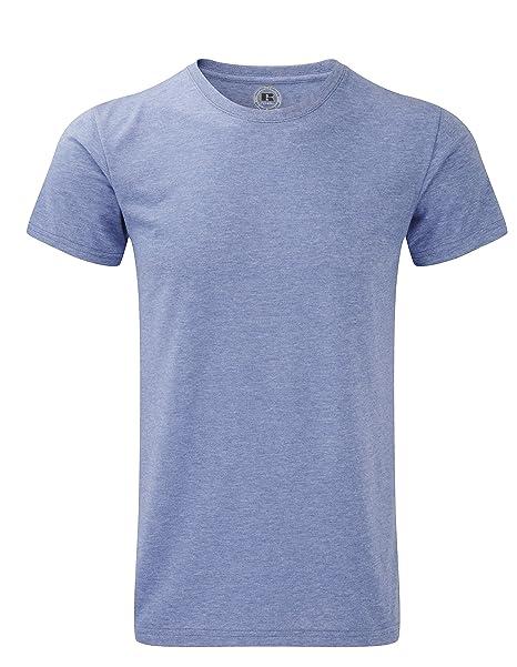 Russell 165 m – Camiseta de manga corta camiseta HD – Plata Marl – tamaño mediano