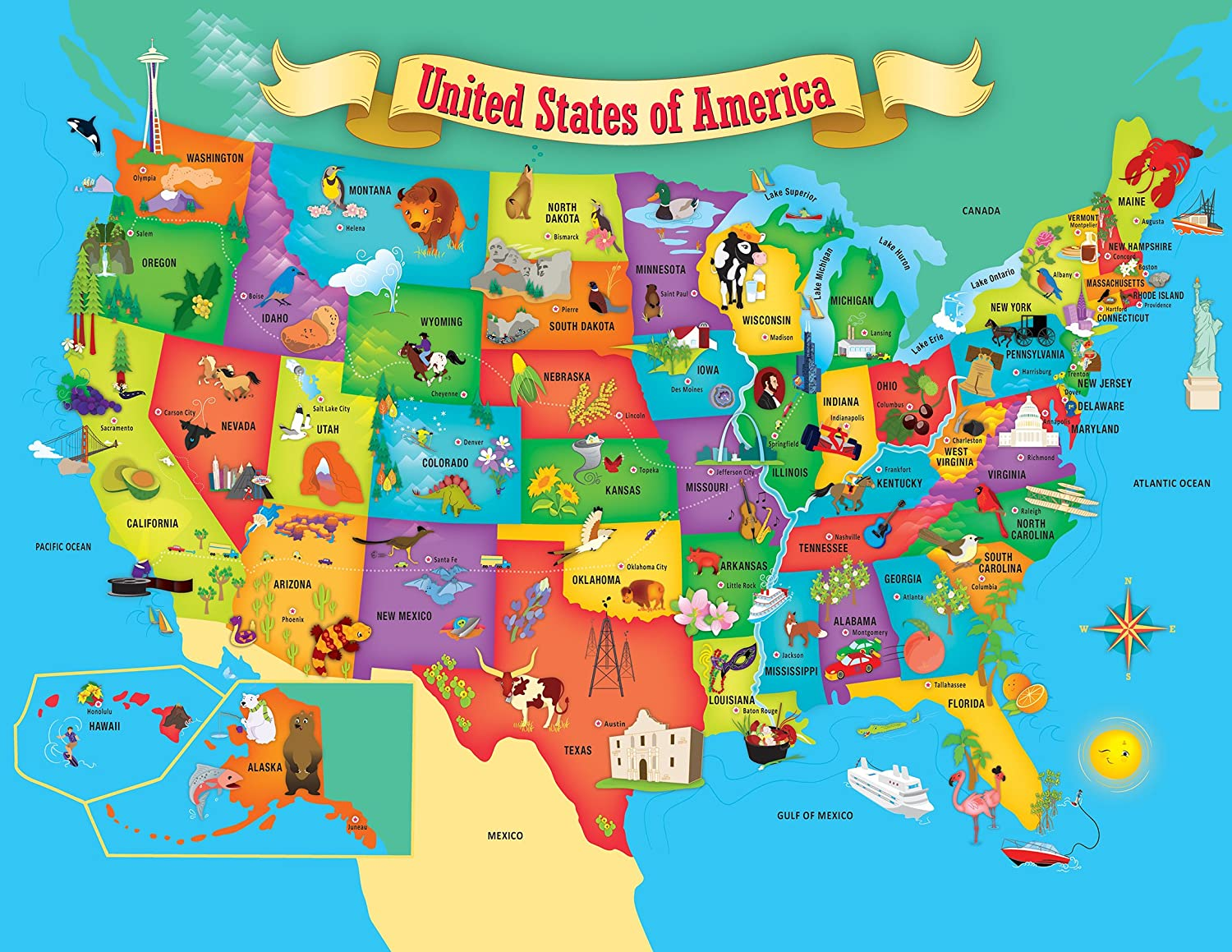 World Stem Product Creative Child Preferred /& Mom/'S Choice Award for Ages 5+ Masterpieces Educational Maps 60Piece Jigsaw Puzzle