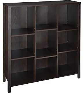 ClosetMaid 16058 Premium Adjustable 9 Cube Organizer, Black Walnut