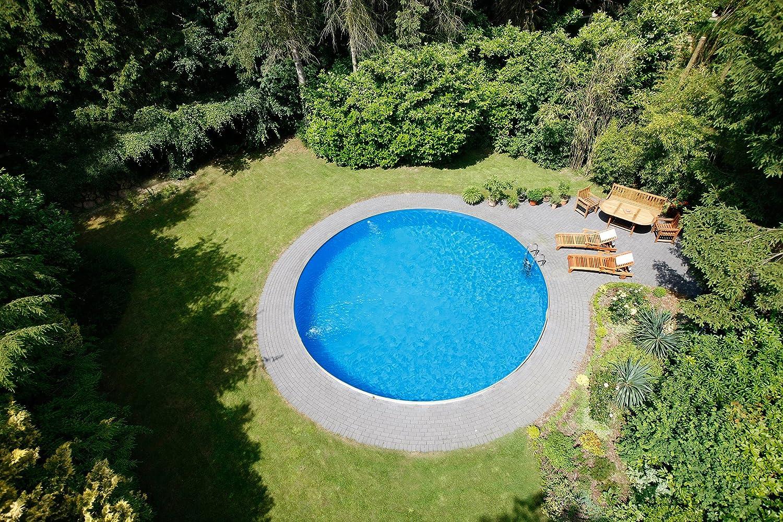 Pool Royal redondo forma Diámetro 4, 50 m x 1, 20 m acero pared 0, 6 mm, pantalla azul protector de suelo de 0, 6 mm Con Fieltro, lona para cubrir Eco ...
