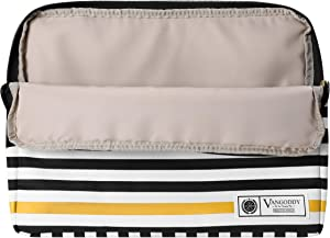 Vangoddy BASTA 17.3 inch Laptop Tablet Sleeve Black White Accent Stripe Pattern Design for Dell Inspiron, XPS, Alienware, 15.7 inch 17.3 inch Laptops PC