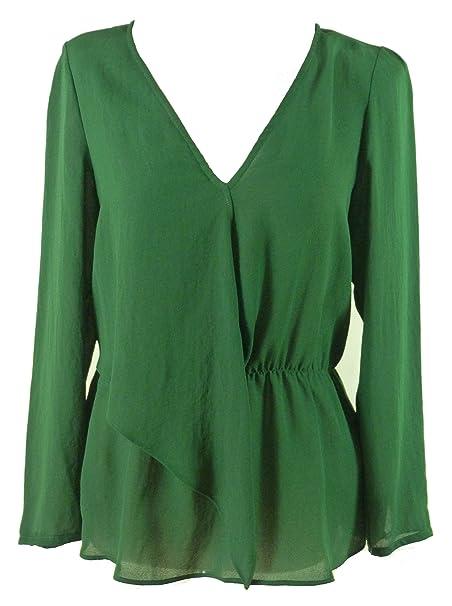 Zara - Camisas - Básico - Clásico - para mujer Verde verde 38: Amazon.es: Ropa y accesorios