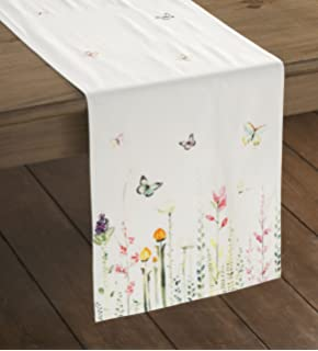Maison Du0027 Hermine Botanical Fresh 100% Cotton Table Runner 14.5 Inch By 72  Inch