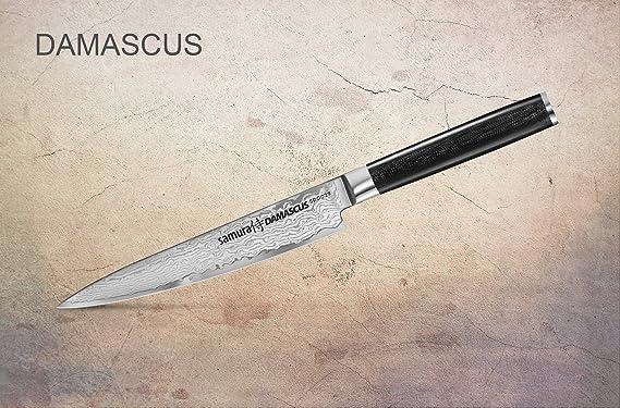 Samura Damasco - Cuchillo japonés de cocina profesional (150 ...