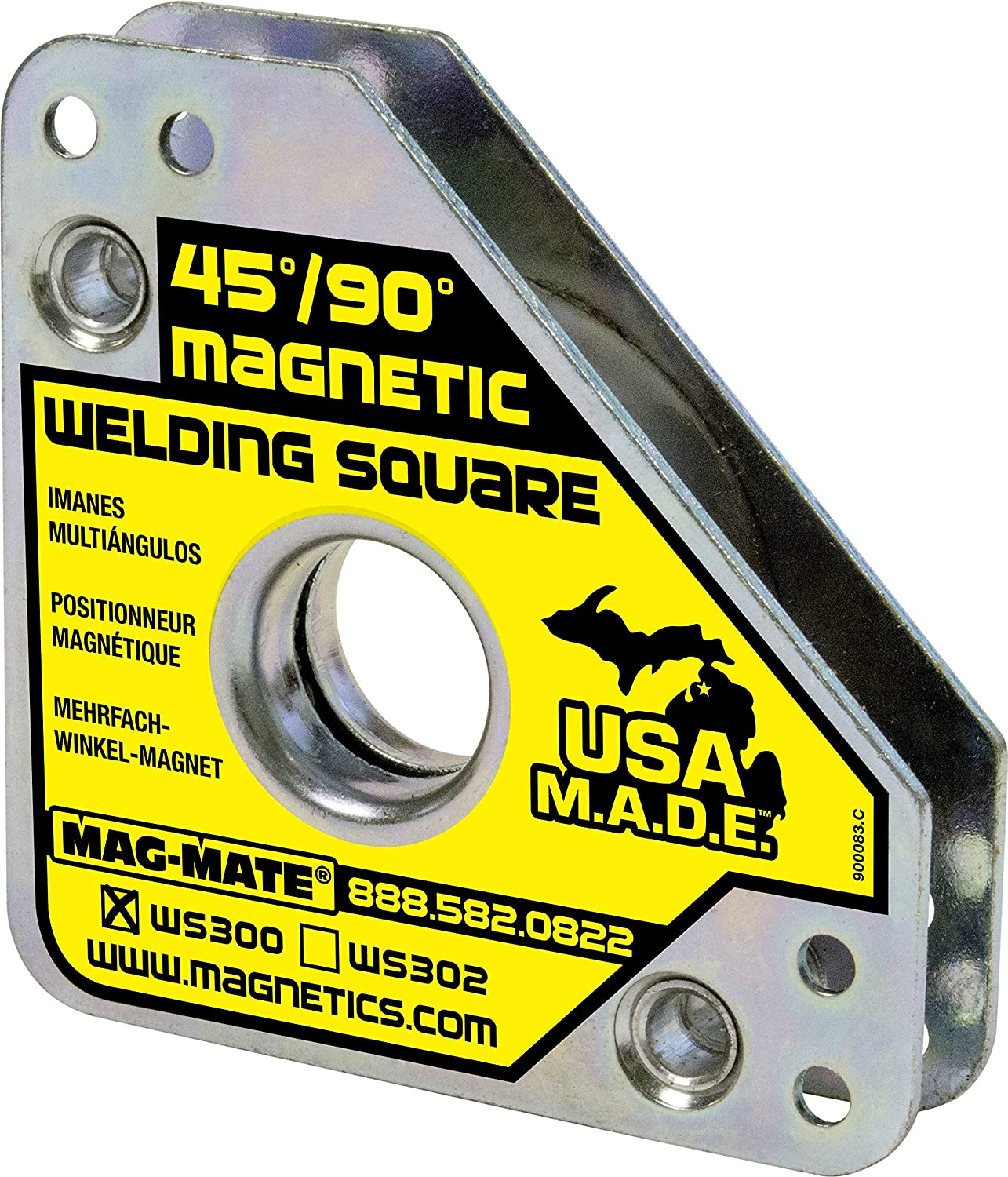 MAG MATE WS300 Compact Magnetic Welding Square with 55 lb Capacity