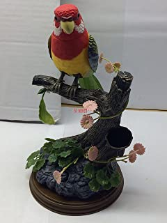 BEAUTIFUL TALKING PARROT REPEAT BIRD VOICE RECORDER PEN HOLDER TOY - IDEAL  GIFT! (Green 8466f760b7