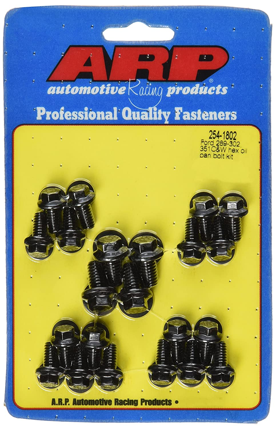 ARP 2541802 Black Oxide Oil Pan Hex Bolt Kit 254-1802
