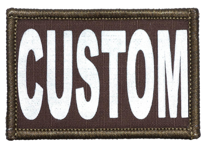 Amazon.com  Custom Reflective Patch - 2 x 3 inch Custom Text Morale Patch -  Black  Arts d63b2db13c1