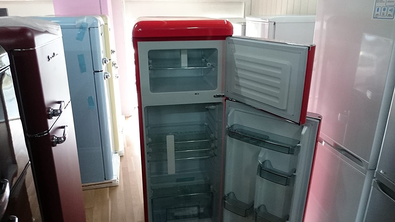 Amerikanischer Kühlschrank Retro Look : Five5cents g215w kühlgefrierkombination ferrari rot glänzend