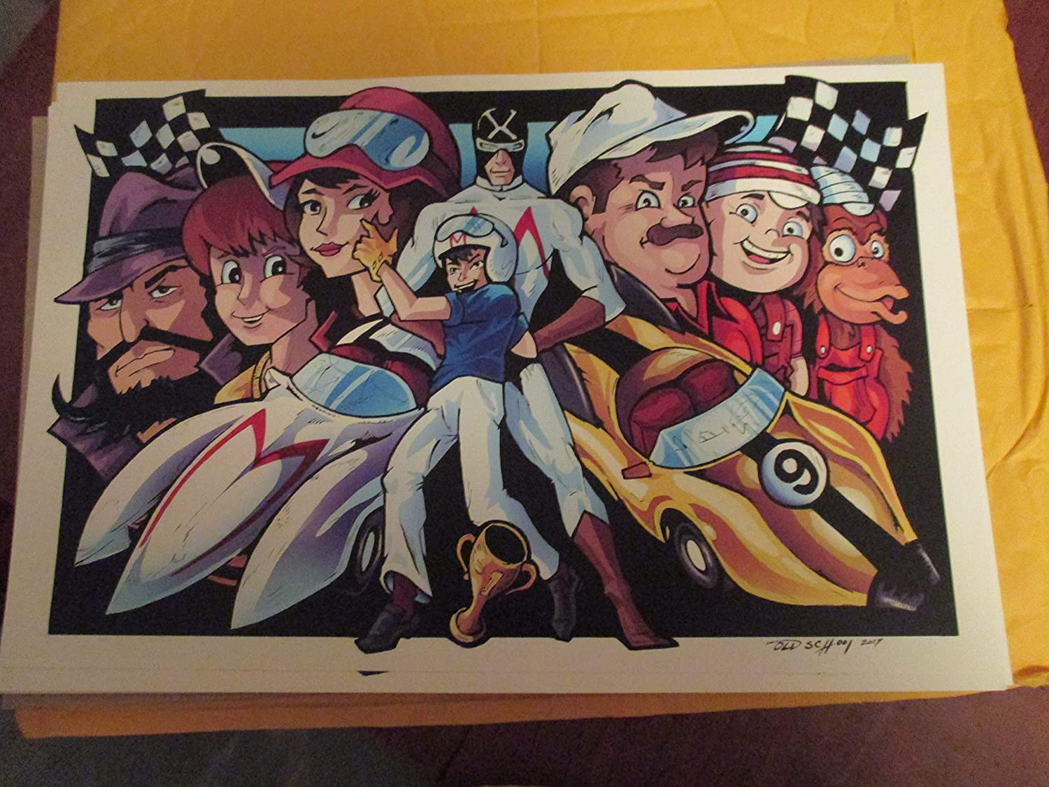 SPEED RACER COLOR!!LIMITED EDITION PRINT 11' By 17' 'THE ART OF OLD SCHOOL 'approved Dealer SPEED RACER COLOR!!LIMITED EDITION PRINT 11 By 17 ' THE ART OF OLD SCHOOL ' approved Dealer