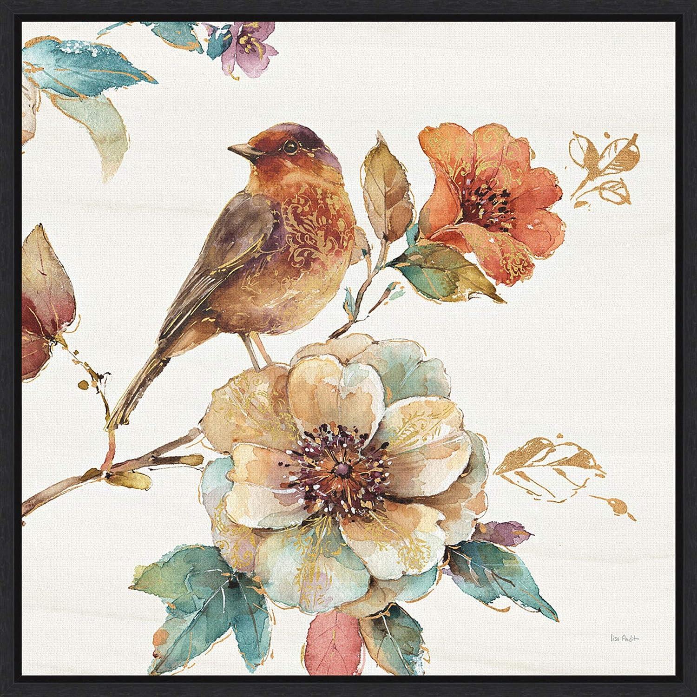 Home Décor Spiced Nature Iii Soft White Canvas Wall Art Print Bird Home Decor Home Garden Mbln Org