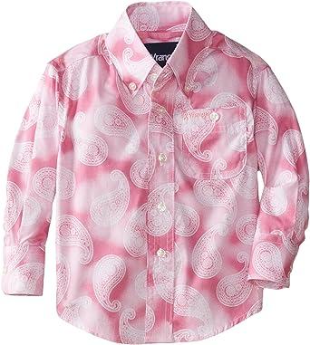 Wrangler - Camisa de manga larga para niño - Rosa - Large ...