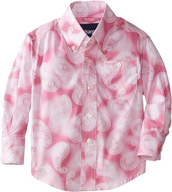 Wrangler - Camisa de manga larga para niño - Rosa - Large: Amazon.es: Ropa y accesorios