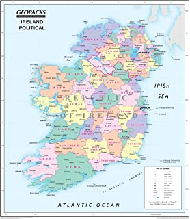 World map with facts flags pinboard cork board with pins childrens ireland map reversible politicalphysical laminated wall map gumiabroncs Gallery