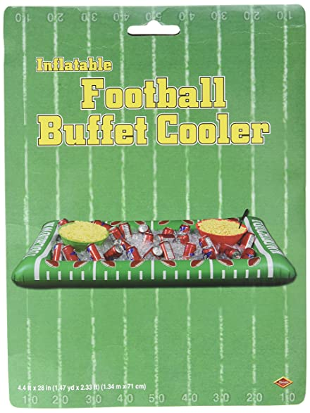 Exceptional Beistle 54253 1 Pack Inflatable Football Buffet Cooler For Parties, 28 Inch  Width