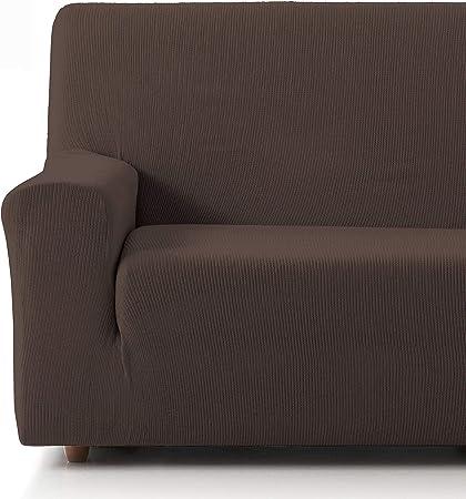 Comprar Eiffel Textile Funda Sofa Elastica Protector Adaptable Rústica Sofá 3 Plazas, 50% Poliéster, Marrón