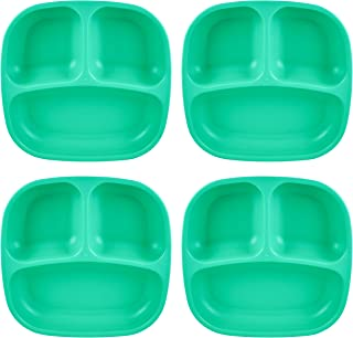 product image for Re-Play Recycled Products Small Divided Plates, Set of 4, Aqua