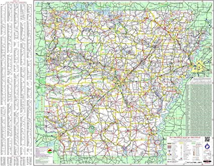Gifts Delight Laminated 30x24 Poster: Road Map - Large Detailed map of  Arkansas with Cities and Towns