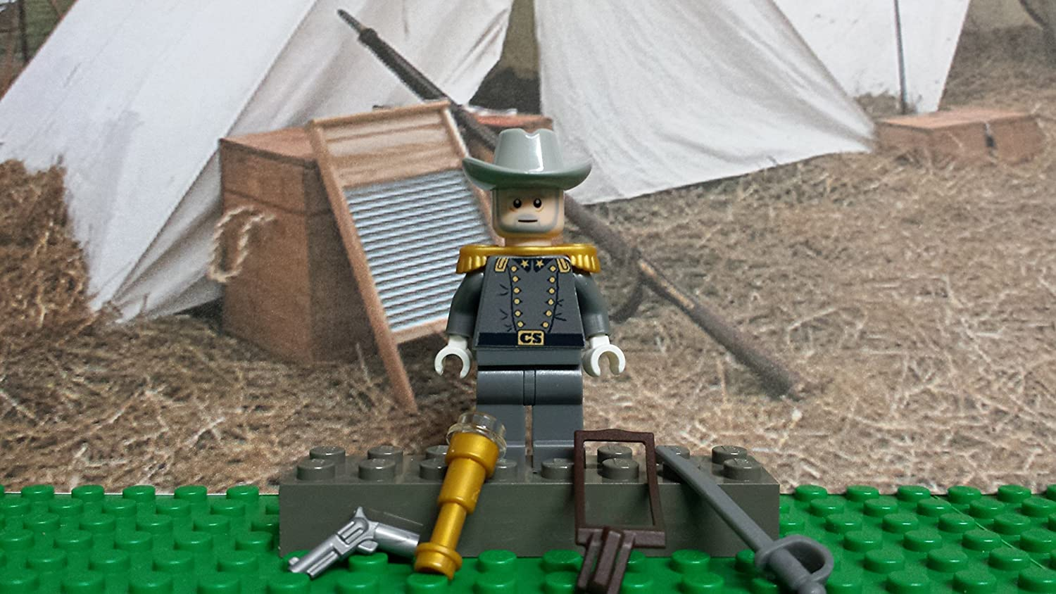 LEGO Civil War Confederate General Robert E. Lee. Army of Northern Va!