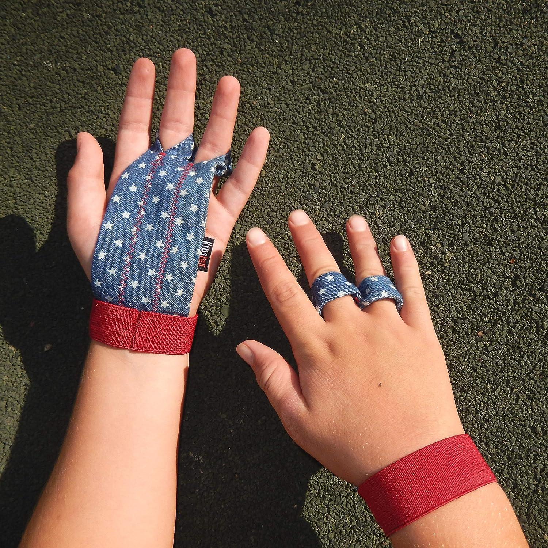 Par de calleras Hand Strips Kids para Crossfit (8, 9, 10, 11 y 12 años) - Tela Jeans Suave: Amazon.es: Deportes y aire libre