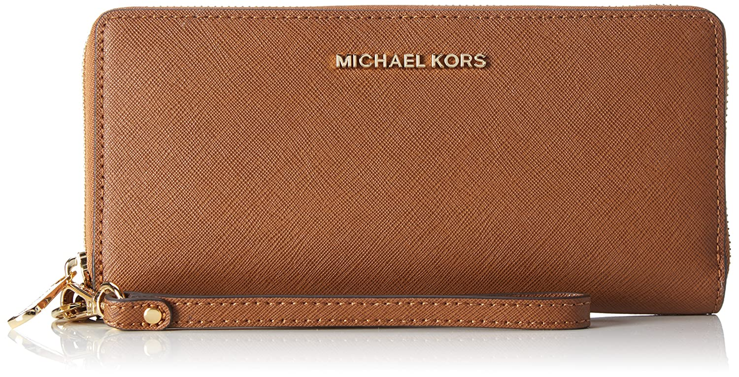 c92a2aa15f3577 Amazon.com: MICHAEL Michael Kors Jet Set Travel Perforated Continental  Wallet: Clothing