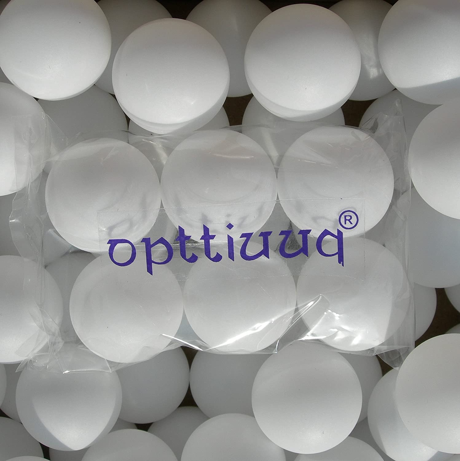 25 x Opttiuuq Plain White (logo free) Table Tennis Balls. 40mm. Packed In Re-cycled boxes.