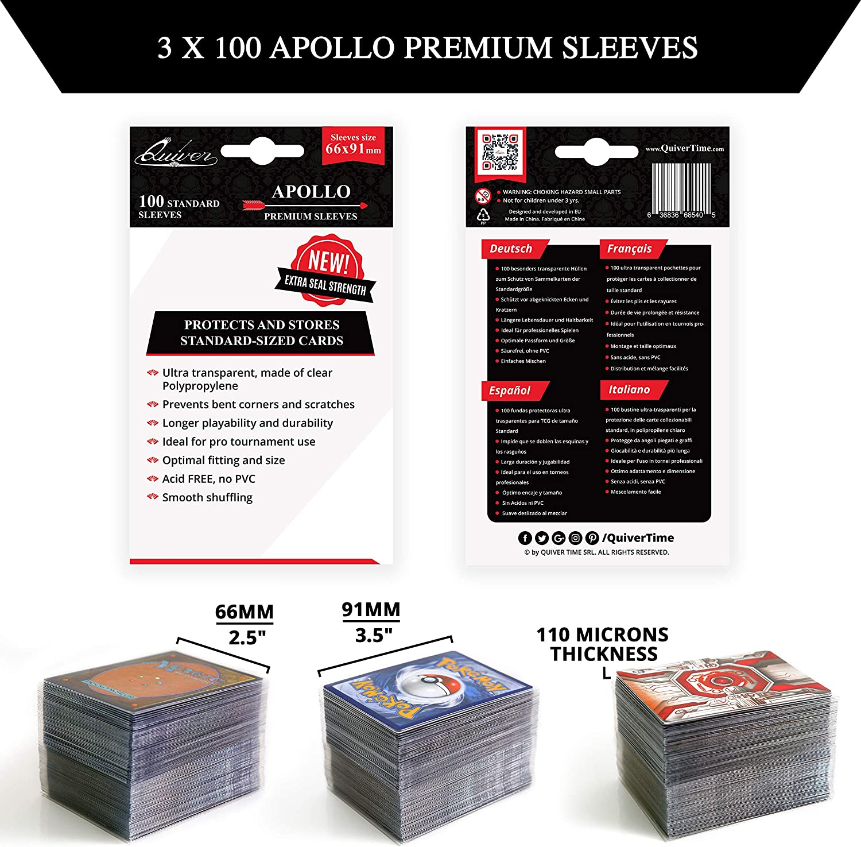 Fundas para Cartas Coleccionables (3 Paquetes x 100) 300 Fundas Transparente Apollo para Tarjetas Coleccionables y Tarjetas de Juego: Amazon.es: Juguetes y juegos