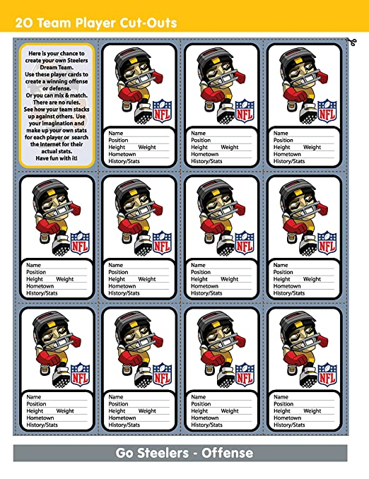 In The Sports Zone NFL Pittsburgh Steelers Activity Book/Yellow/Black/One  Size