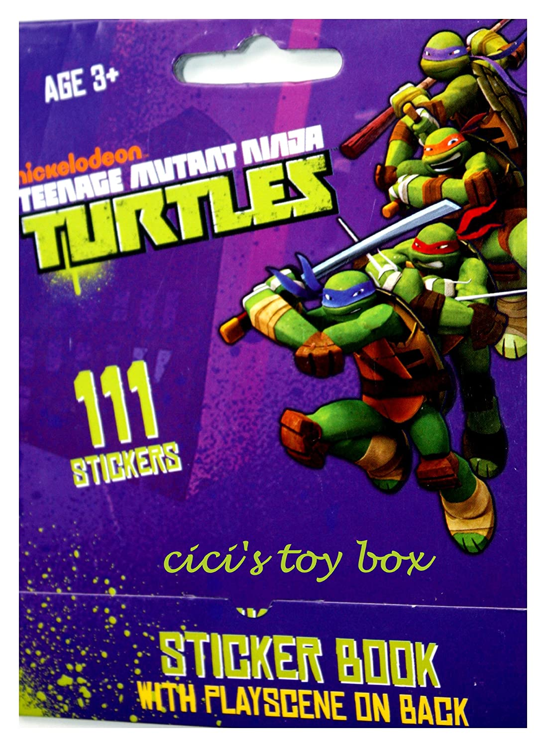 Teenage Mutant Ninja Turtles Sticker Book with Play Scene ...