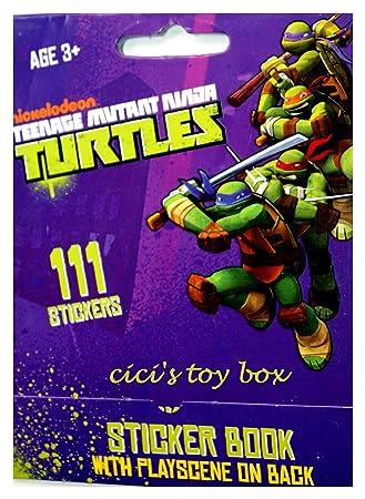 Teenage Mutant Ninja Turtles Sticker Book with Play Scene ...