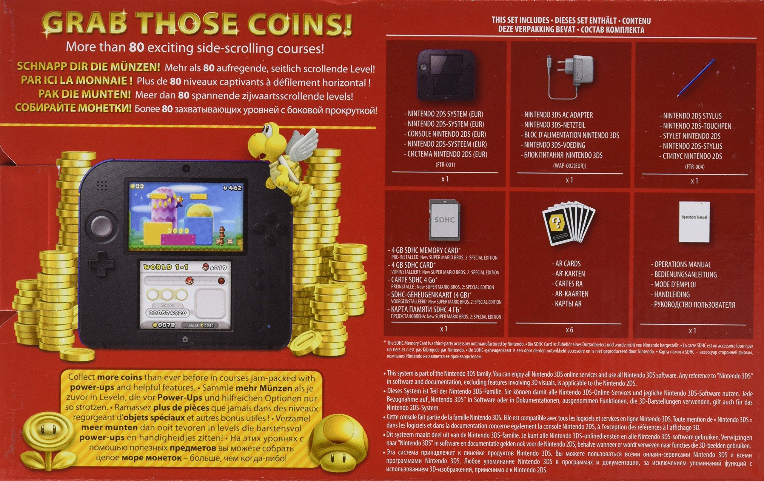 Amazon.com: Nintendo 2DS noir incl. New Super Mario Bros 2 ...