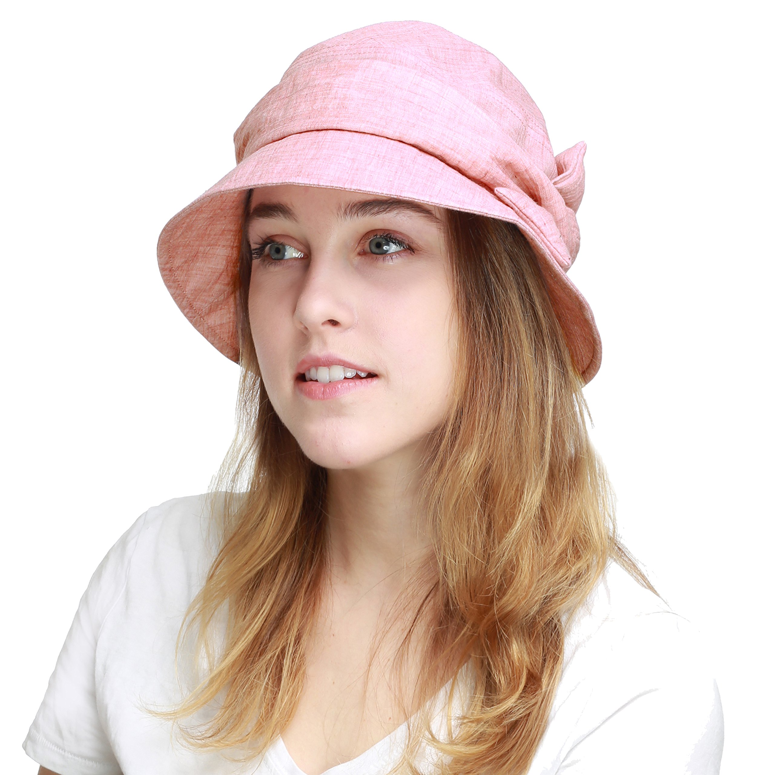 BLACK HORN Ladies Packable Women's Sun Beach Bucket Hat (Helene-Pink) by BLACK HORN (Image #1)
