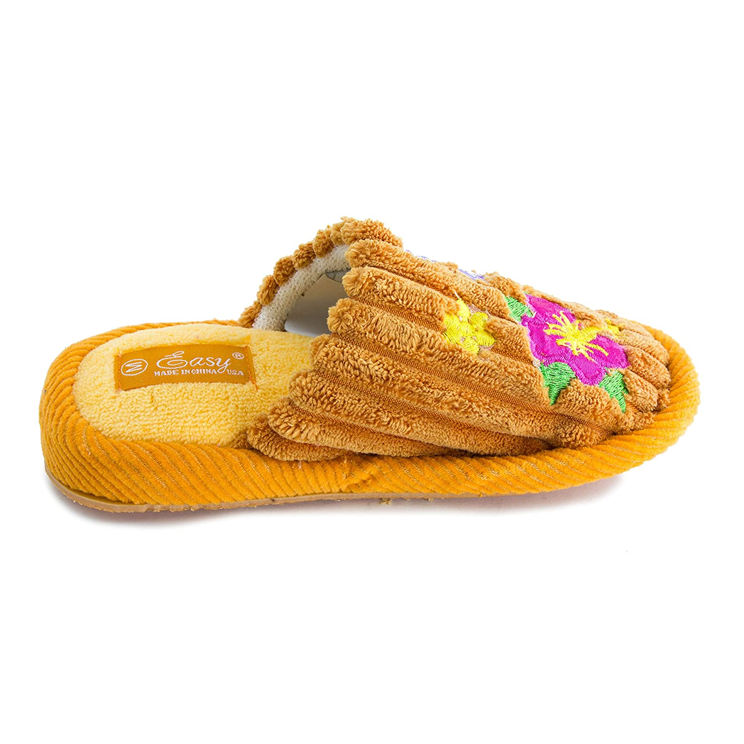 Unisex Kids Floral Winter Comfort House Slippers