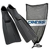 Cressi Clio with Mesh Bag, Black, 37/38