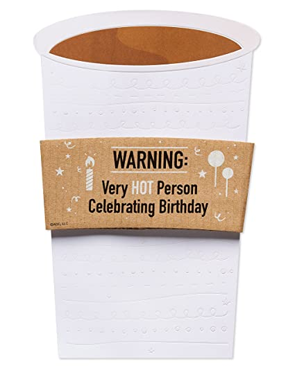 Amazon American Greetings Funny Coffee Birthday Card With