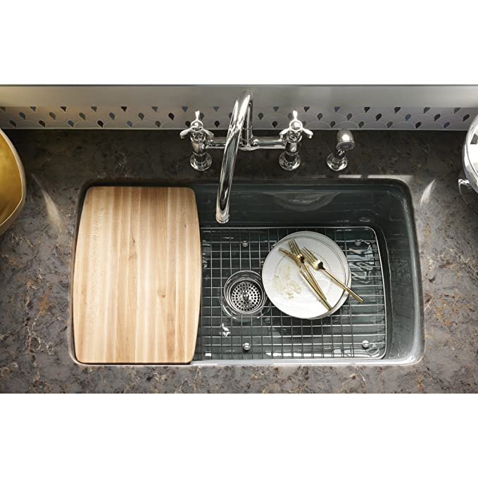 KOHLER K 6063 ST Cape Dory Bottom Basin Rack, Stainless Steel   Sink  Strainers   Amazon.com