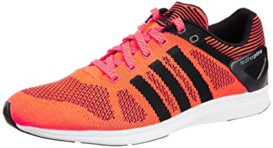 adidas Men\u0027s ADIZERO FEATHER PRIME M Solar Red and Black Mesh Running Shoes  ...