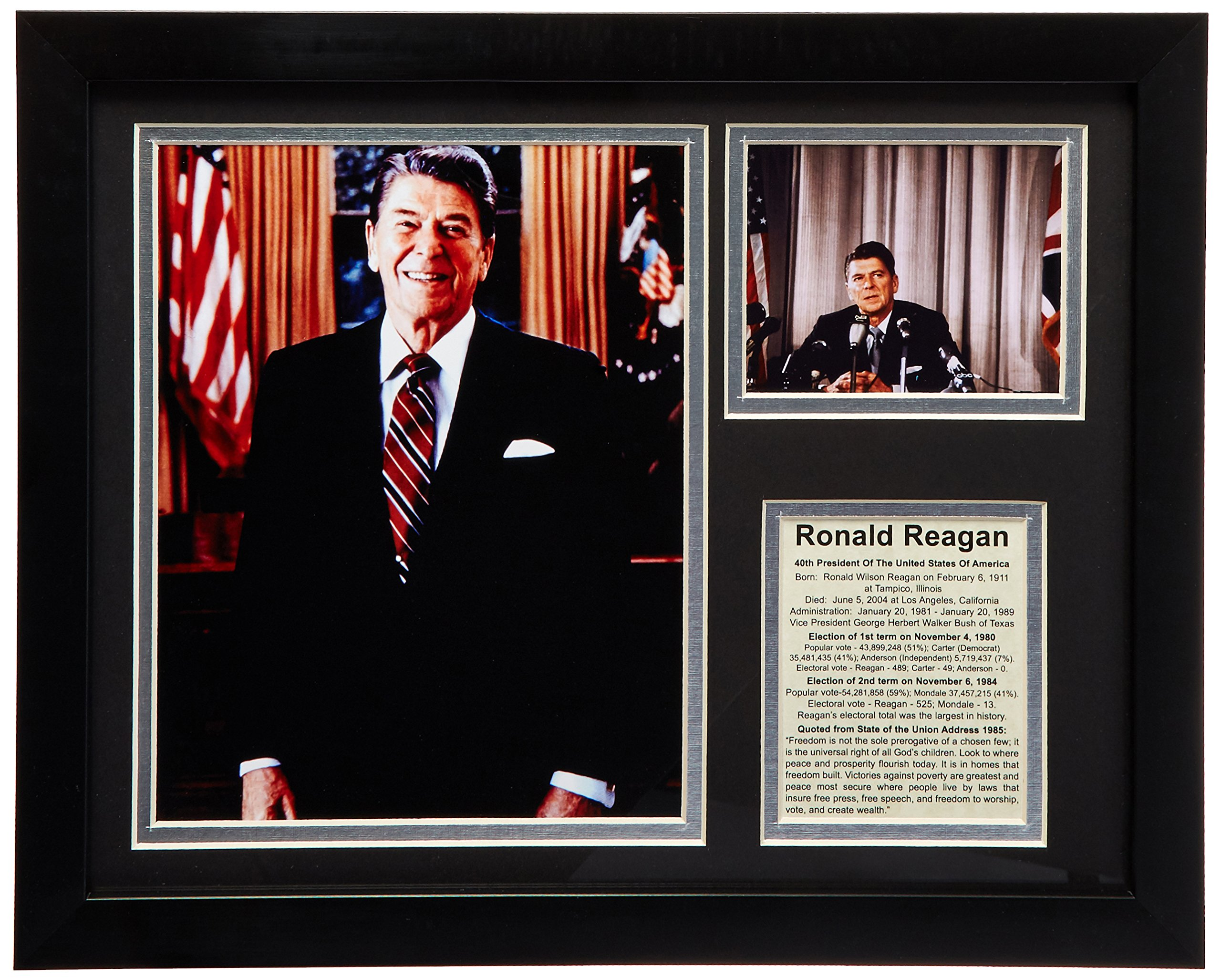 Legends Never Die Ronald Reagan Framed Photo Collage, 11x14-Inch by Legends Never Die