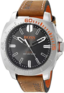 HUGO BOSS Orange Mens 1513294 Sao Paulo Analog Display Japanese Quartz Brown Watch