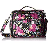 JuJuBe B.F.F Multi-Functional Convertible Diaper Backpack/Messenger Bag, Onyx Collection - Black and Bloom