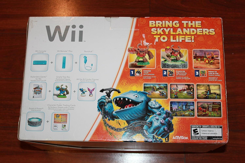 Nintendo Wii Console w Skylanders Giants Starter Pack