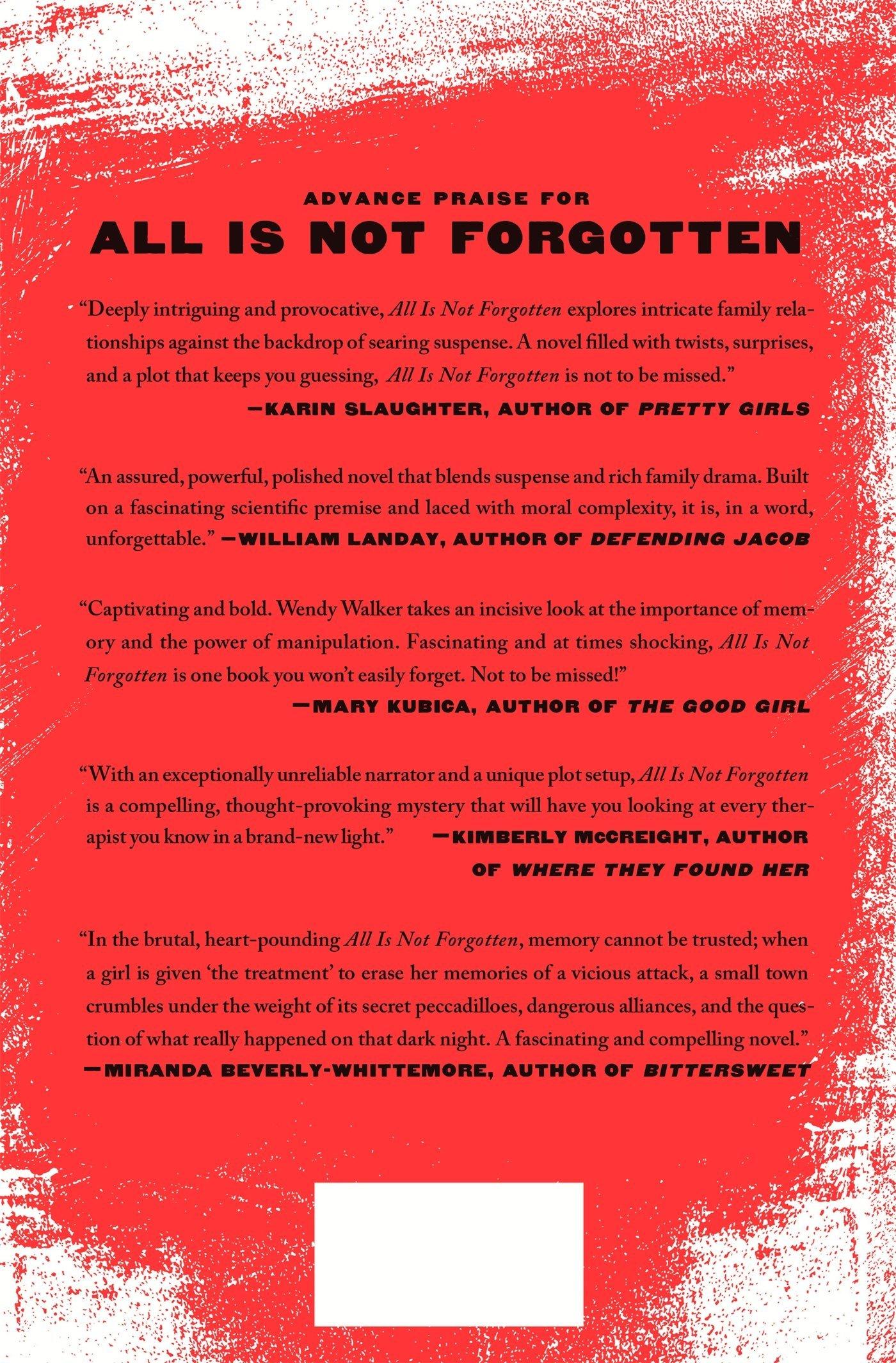 All Is Not Forgotten: A Novel: Wendy Walker: 9781250097910: Amazon:  Books