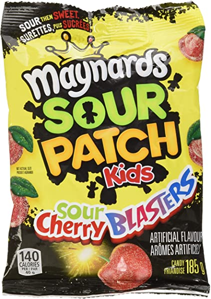 Amazon Com Maynards Sour Patch Kids Sour Cherry Blasters Candy 185 Grams Imported From Canada Grocery Gourmet Food