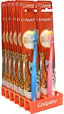 Colgate Kids Toothbrush for 2+ Years Extra Soft Bristles Assorted Colors and Packs 12 PACK